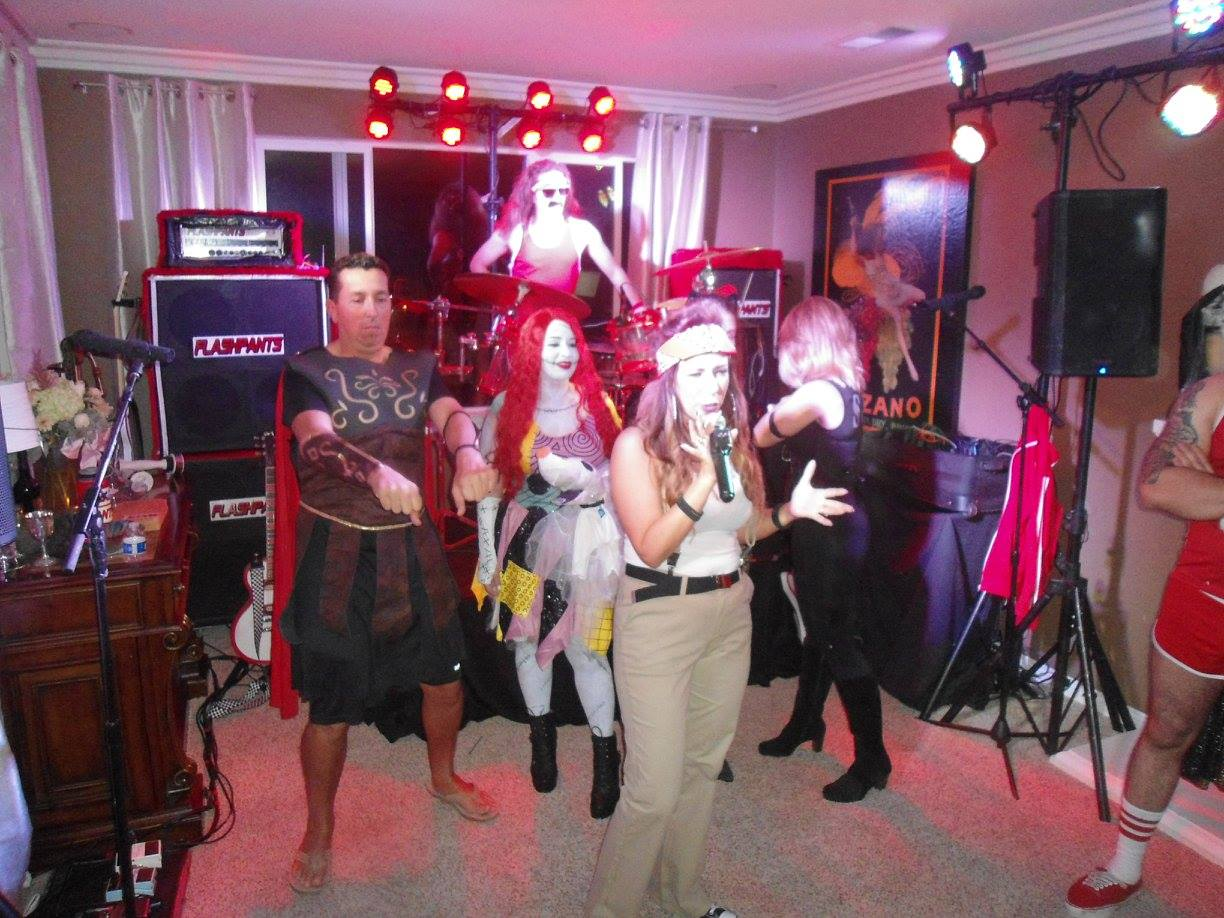 Best 80s Band performs for Halloween House Party in Orange, California